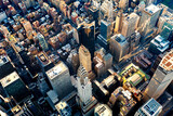 Aerial view of the Midtown Manhattan NY poster