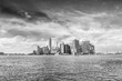 Beautiful view of Manhattan skyline from the boat.