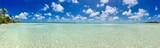 Beautiful turquoise lagoon and white sanded beaches of Marlon Brando's atoll Tetiaroa, Tahiti, French Polynesia