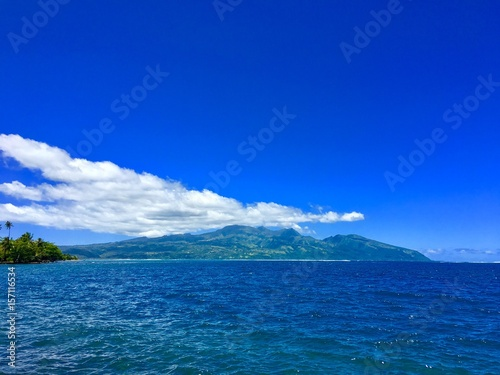 Beautiful view on Tahiti Iti, French Polynesia