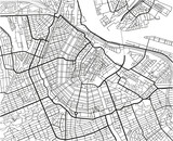 Black and white vector city map of Amsterdam with well organized separated layers. - 157135349