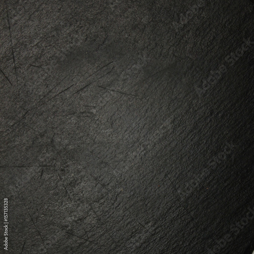 Fotobehang Stof Slate dark grey surface with scratches