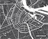 Minimalistic Amsterdam city map poster design. - 157135513