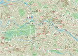 Vector city map of Berlin with well organized separated layers. - 157136391