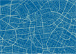 Blue and White vector city map of Berlin with well organized separated layers.