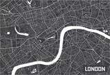 Minimalistic London city map poster design. - 157138314