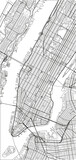 Black and white vector city map of New York with well organized separated layers. - 157138952