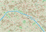 Vector city map of Paris with well organized separated layers. - 157139322