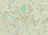 Vector city map of Rome with well organized separated layers. - 157140323