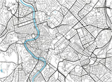 Black and white vector city map of Rome with well organized separated layers. - 157140354