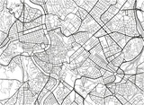 Black and white vector city map of Rome with well organized separated layers. - 157140383