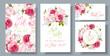 Rose wedding invitation - 157141545