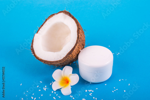 Coconut with a bright background. Coconut Cream Poster