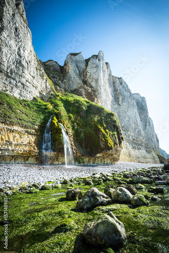 Waterfall in France at alabaster coast/Fecamp