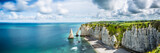 Fototapety Panorama in Etretat/France alabaster coast