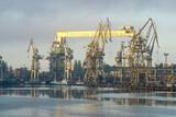 Ship repair at a repair yard in Szczecin, Poland - 157181157
