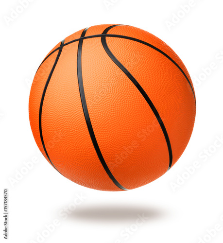 Fotobehang Basketbal Basketball ball isolated on white background