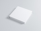 White Book Mockup with textured hard cover, square. 3d rendering - 157186175