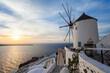 Windmills on Santorini island