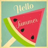 Summer Time Retro Square Poster
