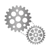 bike gears icon over white background. vector illustration