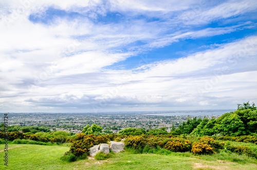 View on coastline by Killiney near Dublin in Ireland Poster