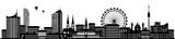 Wien Skyline Silhouette - 157197730