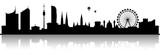 Wien Skyline Silhouette schwarz - 157201349