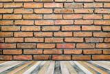 Brick wall orange