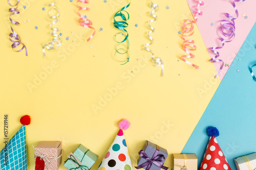 Poster Party theme on a bright background