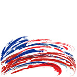 United States patriotic footer design with stars and stripes for Memorial Day on a white background - 157219338