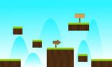 Landscape blue sky game background