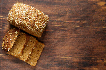 Rye wholemeal bread - healthy food