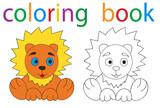 book coloring lion cartoon
