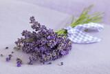 Strauss aus getrockneten Lavendelblüten