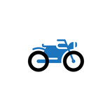 Motorcycle icon vector, motorbike solid logo illustration, colorful pictogram isolated on white