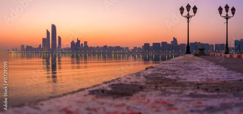 Foto op Canvas Abu Dhabi Abu Dhabi Breakwater
