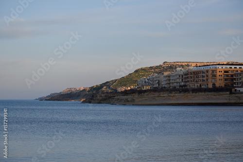 Plagát Evening coastline from Marsalforn, Gozo