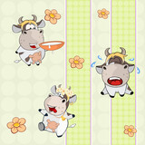 A background with cows seamless pattern