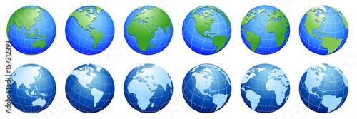 Planet Earth, world globe maps  - 157312393