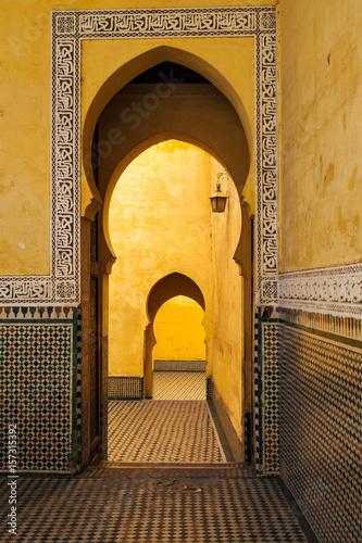 Foto op Plexiglas Marokko Marokko - Meknes - Mausoleum Mulai Ismail
