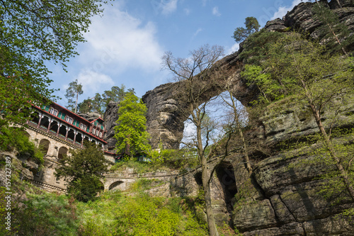 Pravcicka brana - the biggest natural sandstone arch in Europe Poster