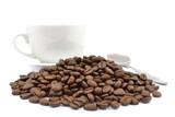kawa z filiżanką