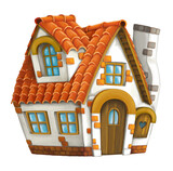 Old cartoon house - isolated - illustration for children - 157329545