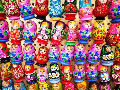 Papiers peints Moscou Matroska doll In Izmailovsky Market in Moscow, Russia.
