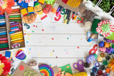 Materials for children's creativity. Drawings, plasticine, crafts. - 157345376