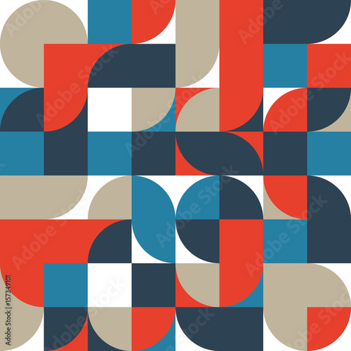 Abstract retro vintage geometric shape pattern background