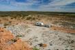 Four Wheel Drive and off road Caravan in the Outback of Western Australia