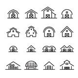 hangar and barn line icon - 157355981
