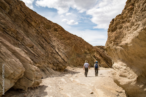 Golden Canyon Tourists Exploring